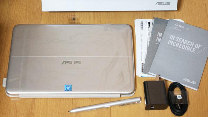 「ASUS TransBook mini H103HAF」の同梱物はこちらのようになっています。