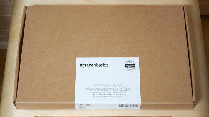 Amazonベーシックのフェルト製ノートパソコンケース